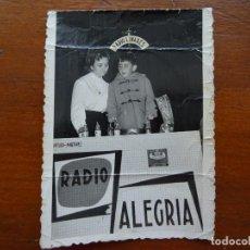 Fotografía antigua: RADIO ALEGRÍA RADIO LINARES, REPORTAJES RUÍZ, 10 X 7 CM. Lote 116354095