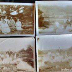 Fotografía antigua: CUATRO ANTIGUAS FOTOGRAFIAS FAMILIA VILLA SAN JUAN DE NADELA LUGO, RIO MIÑO, MOLINO GARULAS AÑO 1926. Lote 116477207