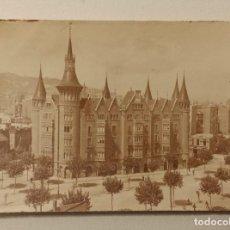 Fotografía antigua: CASA DE LES PUNXES DE BARCELONA PEQUEÑA FOTOGRAFIA 6 X 8,50 AÑO 1924. Lote 116490363