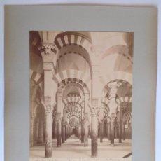 Fotografía antigua: EMILIO BEAUCHY CA. 1880´S * CORDOBA INTERIOR DE LA CATEDRAL * GRAN ALBUMINA * 29 CM X 23 CM . Lote 116625351