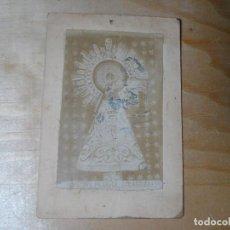 Fotografía antigua: ANTIGUA ESTAMPA COMO CDV DE NUESTRA SEÑORA DEL PILAR. VER FOTOS. Lote 116654371