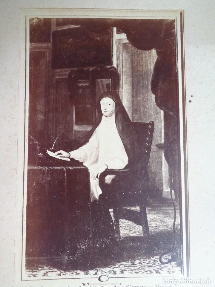 J.LAURENT Y CIA. CLAUDIO COELLO.92.RETRATO DE MARIA ANA DE AUSTRIA.MUSEO DEL PRADO.F.-61 (Fotografía Antigua - Albúmina)