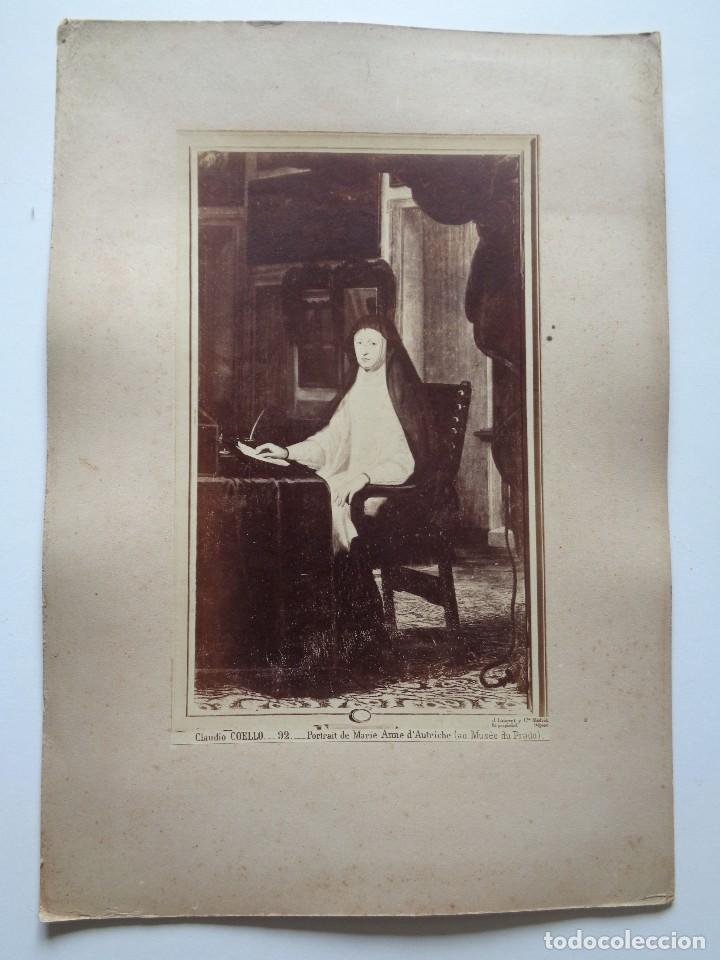 Fotografía antigua: J.Laurent y Cia. CLAUDIO COELLO.92.RETRATO DE MARIA ANA DE AUSTRIA.MUSEO DEL PRADO.F.-61 - Foto 2 - 116967751