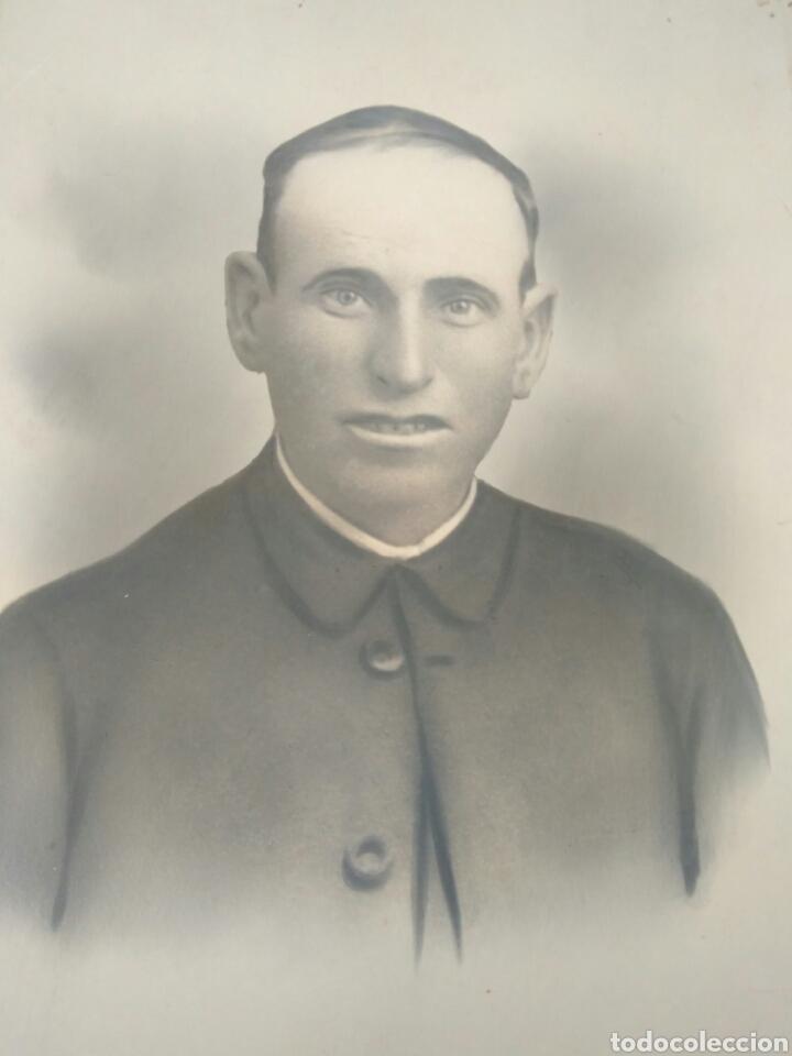 IMPRESIONANTE FOTO ANTIGUA AÑOS 1912 SACERDOTE.FOTO SEVILLA.VER FOTO (Fotografía Antigua - Albúmina)