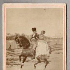 Fotografía antigua: FOTOGRAFIA COSTUMBRISTA, SEVILLA. FOTOGRAFO E. BEAUCHY, SEVILLA. - ALBUMINA-2126.. Lote 117234887