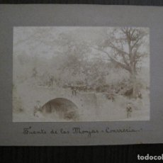 Fotografía antigua: LA CONRERIA- TIANA - FUENTE DE LAS MONJAS -FOTOGRAFIA ALBUMINA- VER FOTOS -(V-14.294). Lote 118367291