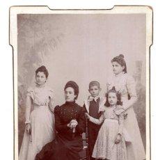 Fotografía antigua: FOTO CABINET - ESTUDIO FOTOGRÁFICO. IDELMÓN É HIJOS - ZAMORA - PALENCIA. Lote 118402063