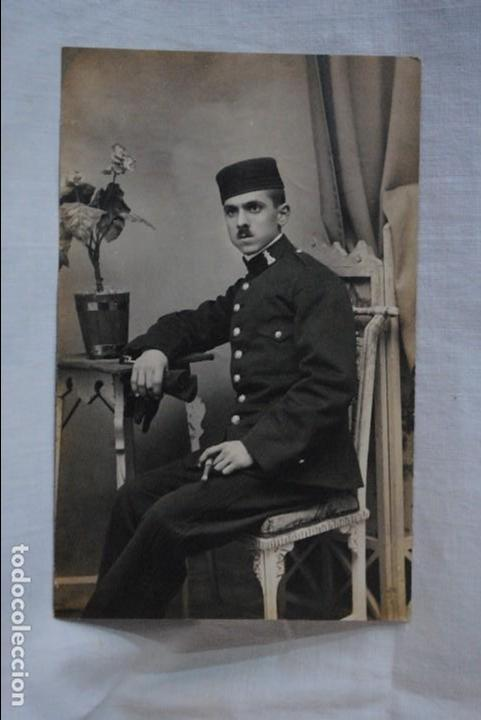 SOLDADO ZAPADOR , 1915 (Fotografía Antigua - Albúmina)