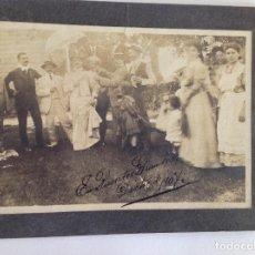 Fotografía antigua: FOTO INDIANOS ASTURIAS.DISFRAZ.PUENTES GRANDES. CUBA. 1907. Lote 119094103