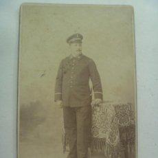 Fotografía antigua: FOTO DE ESTUDIO DE MILITAR DE INGENIEROS , CELADOR DE MATERIAL, CON ESPADIN, SIGLO XIX. DE NIETO. Lote 119481703