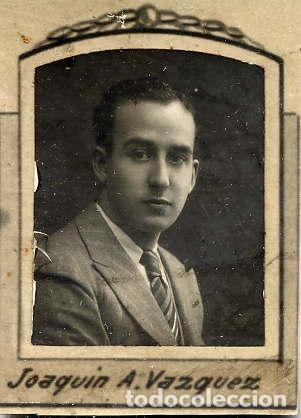 JOAQUIN A. VAZQUEZ 1923-30 RETRATO ORLA FACULTAD MEDICINA-VALENCIA (Fotografía Antigua - Albúmina)