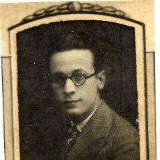 Fotografía antigua: FERMIN QUEROL NAVAS 1923-30 RETRATO ORLA FACULTAD MEDICINA-VALENCIA. Lote 120066451