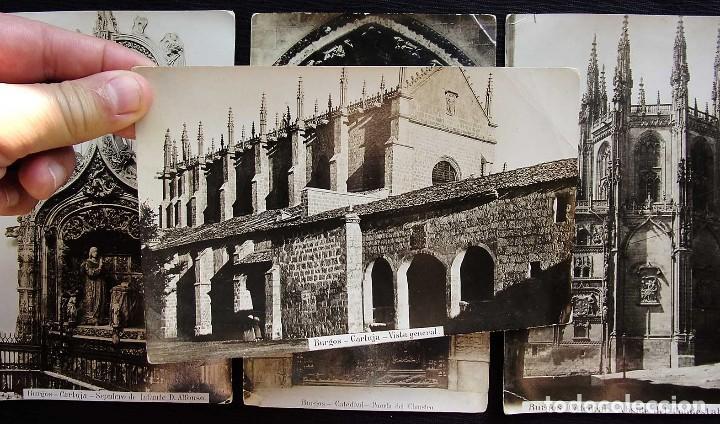 Fotografía antigua: BURGOS. LOTE DE 5 ALBÚMINAS. TAMAÑO 20 x 12,5 cm. - Foto 2 - 120352339