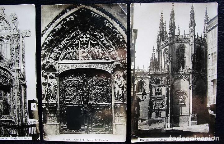 Fotografía antigua: BURGOS. LOTE DE 5 ALBÚMINAS. TAMAÑO 20 x 12,5 cm. - Foto 4 - 120352339