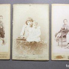 Fotografía antigua: TRES BONITAS FOTOGRAFÍAS DE NIÑOS. Lote 120760119
