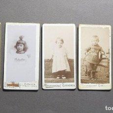 Fotografía antigua: 5 BONITAS FOTOGRAFÍAS DE NIÑOS SXIX. Lote 120760911