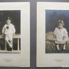Fotografía antigua: DOS BONITOS RETRATOS DE NIÑOS S. XIX. Lote 120761323