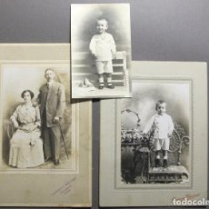 Fotografía antigua: 3 RETRATOS DE FOTÓGRAFOS CUBANOS S. XIX. Lote 120761651