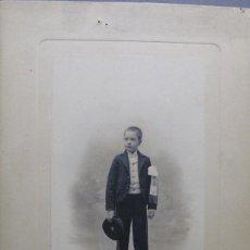 Fotografía antigua: NIÑO DE COMUNIÓN RETRATADO POR CHRISTIAN FRANZEN. Lote 120765195