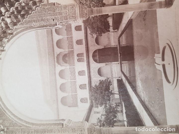 Fotografía antigua: ANTIGUA FOTOGRAFIA ALBUMINA PATIO DE LOS ARRAYANES LA ALHAMBRA GRANADA SEÑAN Y GONZALEZ - Foto 2 - 121383683
