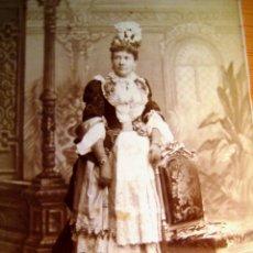 Fotografía antigua: RETRATO DE LA INFANTA ISABEL DE BORBÓN (LA CHATA)- ORIGINAL. . Lote 121671591