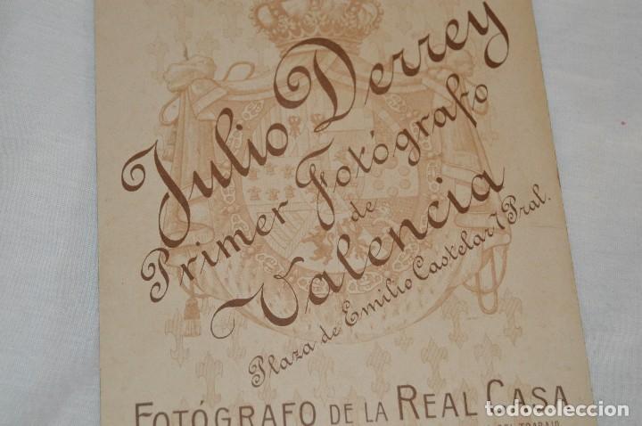 Fotografía antigua: Vintage - ANTIGUA FOTOGRAFÍA - JULIO DERREY - PRIMER FOTÓGRAFO VALENCIANO - ALBUMINA - HAZ OFERTA - Foto 6 - 121729039