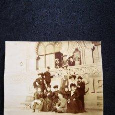 Fotografía antigua: ALBÚMINA ANTIGUA RECORTADA GENTE VESTIDOS ELEGANTES ÉPOCA 1890 8,8X8,6. Lote 123035866
