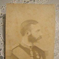 Fotografía antigua: FOTOGRAFIA ALBUMINA ALFONSO XII. 10,50 X 7. Lote 123544771