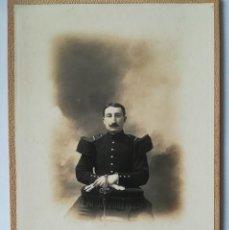 Fotografía antigua: EXTRAORDINARIA FOTOGRAFÍA DE MILITAR FRANCES FOT NEVERS TAMAÑO CABINET 16,5X11 CM. Lote 124214959