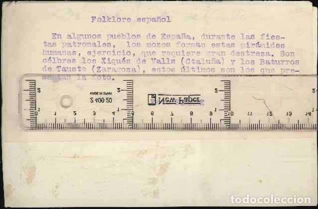 Fotografía antigua: folklore español foto pirine caja C. - Foto 2 - 124480951