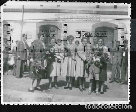 FOTO ESTACION DE TREN CASTILLA MARRACOS (Fotografía Antigua - Albúmina)
