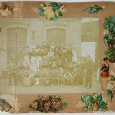 Fotografía antigua: FOTOGRAFÍA DE GRUPO DE TRABAJADORAS. ALBUMINA. SIGLO XIX-XX. . Lote 124706295