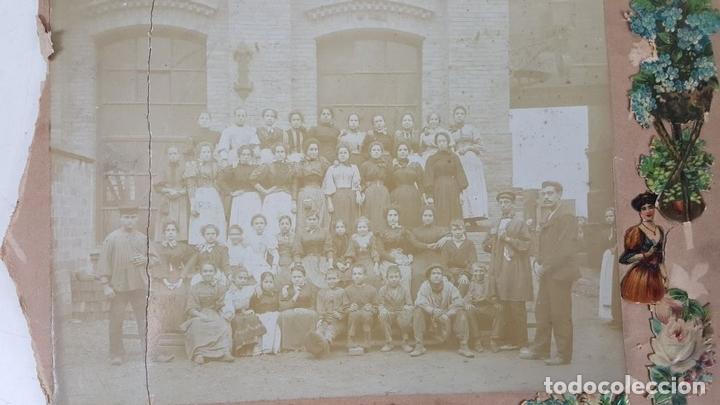 Fotografía antigua: FOTOGRAFÍA DE GRUPO DE TRABAJADORAS. ALBUMINA. SIGLO XIX-XX. - Foto 4 - 124706295