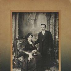 Fotografía antigua: FOTOGRAFÍA DE FAMILIA. ALBUMINA. FOTOGRAFÁ ESTRANYA. BARCELONA. SIGLO XIX-XX.. Lote 139582266