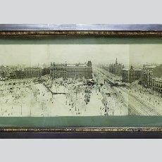 Fotografía antigua: 1920C EXCEPCIONAL PANORAMA DE BARCELONA NEVADA ENORME 106CM. - PLAZA CATALUÑA - PLAÇA CATALUNYA. Lote 124707311