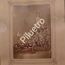 Fotografía antigua: VERDADERO RETRATO DE NUESTRA SEÑORA DE LA CONCEPCIÓN QUE SE VENERA EN LA NAVA DEL REY, VALLADOLID,. Lote 124996011