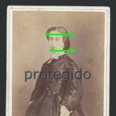 Fotografía antigua: DÑA. CINTA SICHAR. ZARAGOZA. SIGLO XIX. FOTÓGRAFO J.LAURENT. MADRID. SIN SELLO. BDLL. Lote 125008859