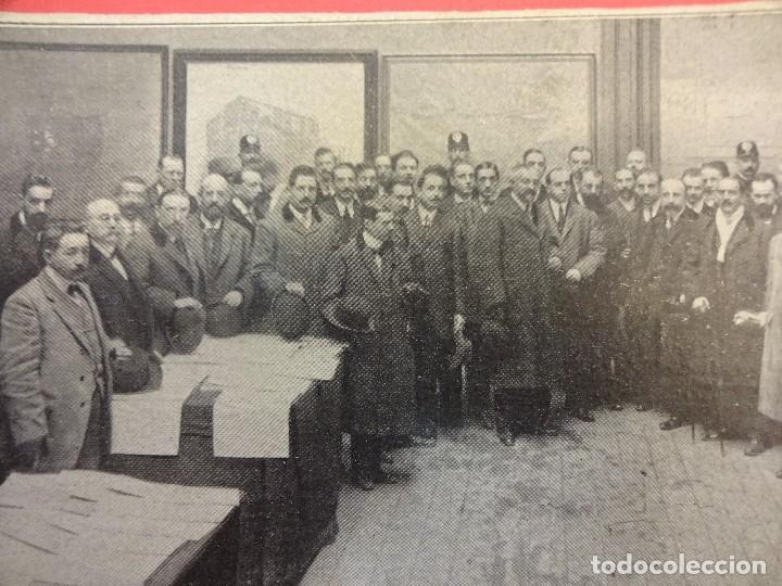 MUY ANTIGUA ALBUMINA. PERSONALIDADES POSANDO EN DEPENDENCIAS DEL AYUNTAMIENTO MADRID. 22X11 CTMS (Fotografía Antigua - Albúmina)