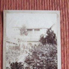 Fotografía antigua: 1890C-ALHAMBRA DE GRANADA.GENERALIFE.PATIO DE LA ACEQUIA. FOTOGRAFÍA ALBÚMINA DE SEÑAN Y GONZÁLEZ.. Lote 125901915