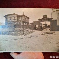Fotografía antigua: ANTIGUA FOTOGRAFÍA REFINERIA GASOLINA EL CLAVILEÑO *INDUSTRIAS BABEL Y NERVIÓN--BABEL ALICANTE 1919. Lote 126177699