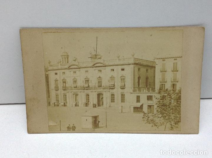 ANTIGUA ALBUMINA BARCELONA - ADUANA ZONA PORTUARIA - FINALES DE 1800 (Fotografía Antigua - Albúmina)