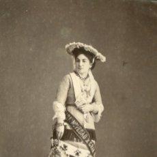 Fotografía antigua: FOTOGRAFIA ORIGINAL FOTOGRAFO ESPLUGAS C.1870 CHICA CARNAVAL. Lote 126996231