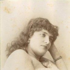 Fotografía antigua: FOTOGRAFIA ORIGINAL FOTOGRAFO ESPLUGAS C.1870 CHICA . Lote 126996387