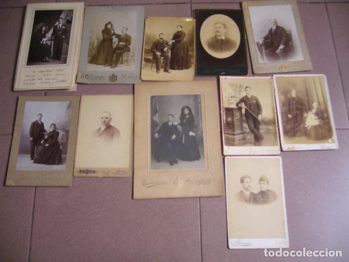 LOTE DE 10 FOTOS DE ALBÚMINA (Fotografía Antigua - Albúmina)