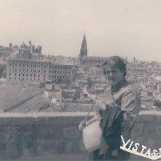 Fotografía antigua: FOTO TAMAÑO POSTAL DE TOLEDO VISTAS. Lote 127546455