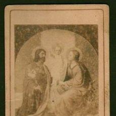 Fotografía antigua: FOTOGRAFIA RELIGIOSA. SOBRE 1880. - ALBUMINA-2386. Lote 128075991