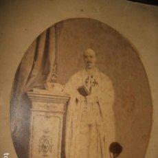 Fotografía antigua: RETRATO DE CABALLERO DE LA ORDEN DE SANTIAGO HACIA 1870 MOMTADA SOBRE CARTON. Lote 128171195