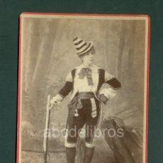 Fotografía antigua: CHICA CARNAVAL FOTO ESPLUGAS C.1870. Lote 128177851