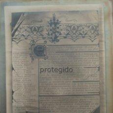 Fotografía antigua: MELILLA, 23 DE ENERO DE 1914. COLOCACIÓN DE LA ÚLTIMA PIEDRA EN LA PLAZA DE ESPAÑA. M. AGUILERA. Lote 128184283