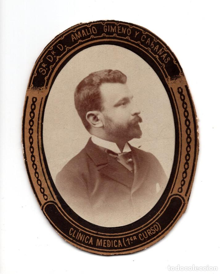 ORLA. DOCTOR AMALIO GIMENO Y CABAÑAS. REAL ACADEMIA NACIONAL DE MEDICINA SILLÓN Nº 12. CARTAGENA (Fotografía Antigua - Albúmina)